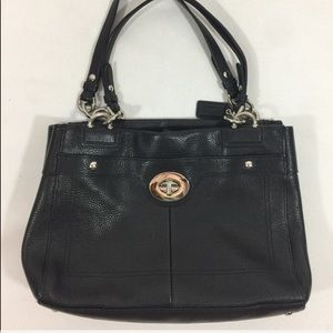 Coach Penelope large Black Leather Purse